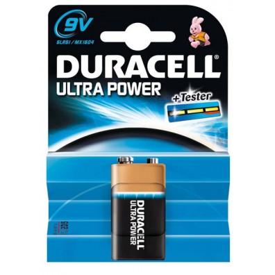 Duracell – Ultra Power 9V Block MX1604 6LR22 Alkaline Batterie – 1er Blister