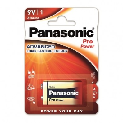 Panasonic – Pro Power 9V Block 6LR22 Alkaline Batterie – 1er Blister