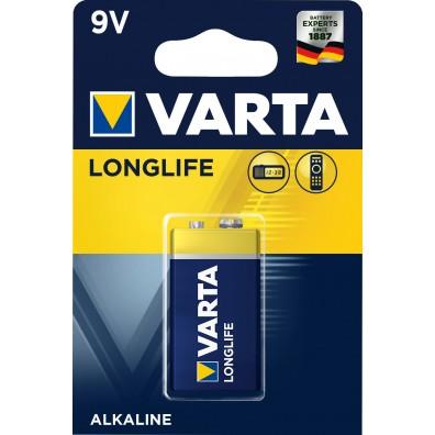 Varta – Longlife 4122 9V Block 6LR22 Alkaline Batterie – 1er Blister