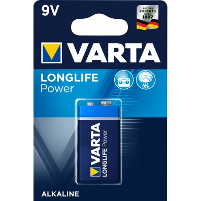 Varta 9V E-Block 4922 121 411 LONGLIFE Power in 1er-Blister