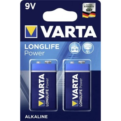 Varta 9V-Block 4922 121 412 LONGLIFE Power in 2er-Blister