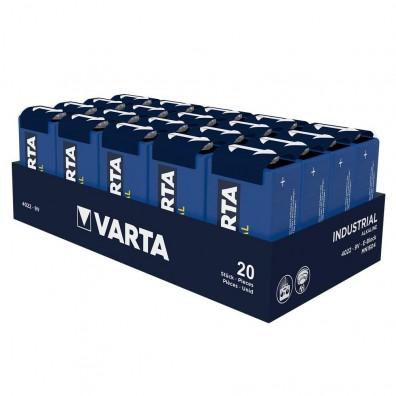 Varta – Industrial 4022 9V Block 6LR22 Alkaline Batterie – 20er Folie