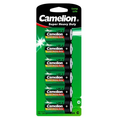 Camelion – Super Heavy Duty Baby C R14 1,5V Zink-Kohle Batterie – 6er Blister