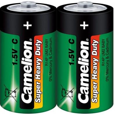Camelion – Super Heavy Duty Baby C R14 1,5V Zink-Kohle Batterie – 2er Folie