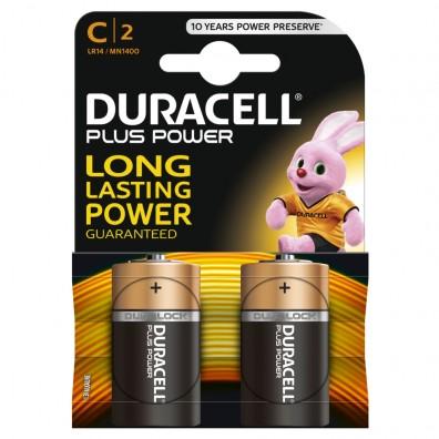 Duracell – Plus Power Baby C MN1400 LR14 1,5V Alkaline Batterie – 2er Blister