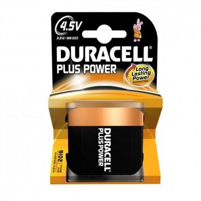Duracell – Plus Power MN1203 4,5V Flachbatterie 3LR12  Alkaline – 1er Blister