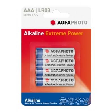 AGFA Photo - Platinum Mignon AAA LR03 Alkaline Battiere -  4er-Blister