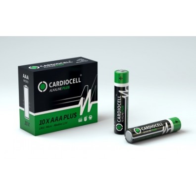 Cardiocell – Plus AAA Micro LR03 Alkaline Batterie – 10er Box (2er Folien)