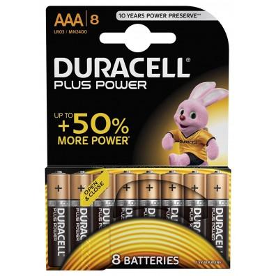 Duracell – Plus Power AAA Micro MN2400 LR03 1,5V Alkaline Batterie – 8ter Blister