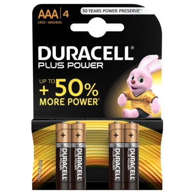 Duracell – Plus Power AAA Micro MN2400 LR03 1,5V Alkaline Batterie – 4er Blister