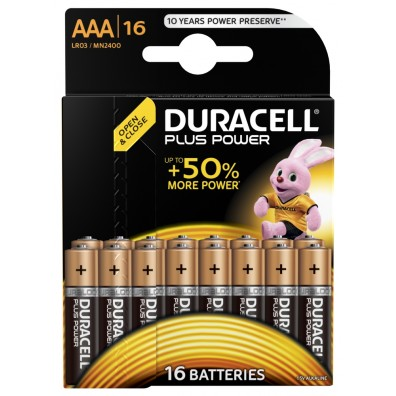 Duracell Micro MN2400 Plus Power (wiederverschließbar) in 16er-Blister