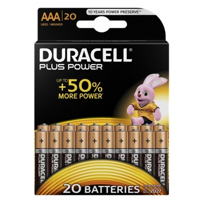 Duracell Micro MN2400 Plus Power (wiederverschließbar) in 20er-Blister