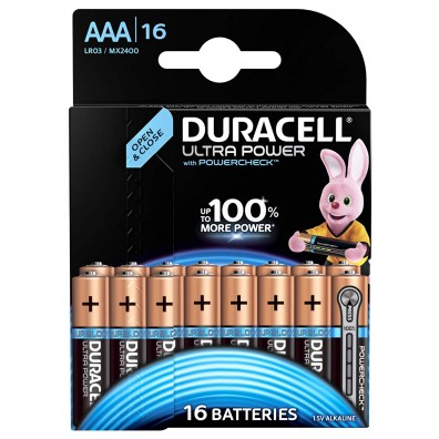 Duracell – Ultra Power AAA MX2400 LR03 1,5V Alkaline Batterie – 16er Blister