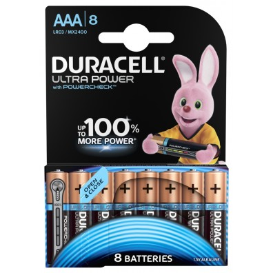 Duracell – Ultra Power AAA MX2400 LR03 1,5V Alkaline Batterie – 8ter Blister