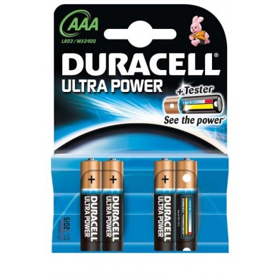 Duracell – Ultra Power AAA MX2400 LR03 1,5V Alkaline Batterie – 4er Blister