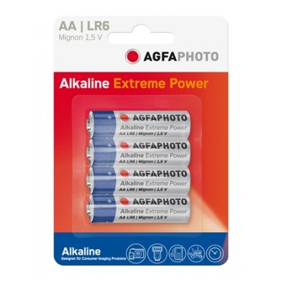 AGFA Photo - Platinum Mignon AA LR6 Alkaline Battiere -  4er-Blister
