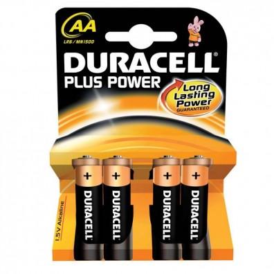 Duracell – Plus Power AA MN1500 Mignon LR6 1,5V Alkaline Batterie – 4er Blister