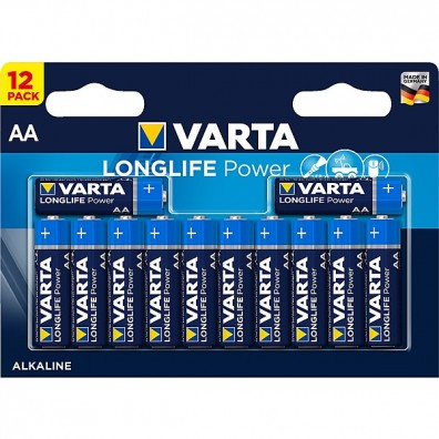Varta – Longlife Power 4906 AA Mignon LR6 1,5V Alkaline Batterie – 12er Blister