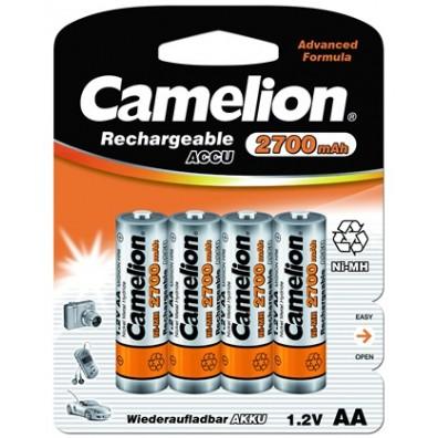 Camelion -  AA HR6 2700mAh 1,2V NiMH Akku – 4er Blister inkl. Aufbewahrungsbox