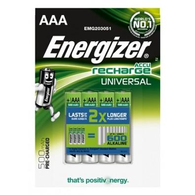 Energizer – Universal AAA 500mAh 1,2V NiMH Akku – 4er Blister
