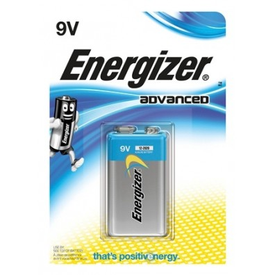Energizer – Advanced 9V Block 6LR22 Alkaline Batterie – 1er Blister