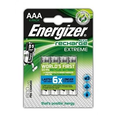 Energizer – Extreme AAA HR03 800mAh 1,2V NiMH Akku – 4er Blister