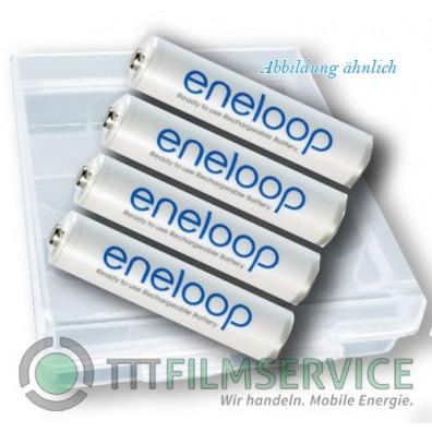 Panasonic – eneloop 4MCCE AAA HR03 750mAh 1,2V NiMH Akku – 4er Box