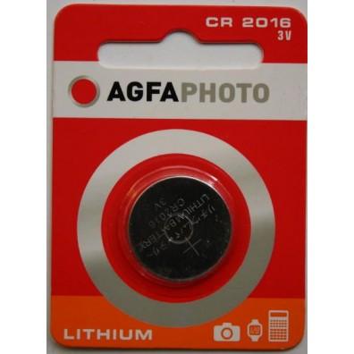 AGFA Photo CR2016 Lithium 3V Knopfzelle – 1er Blister