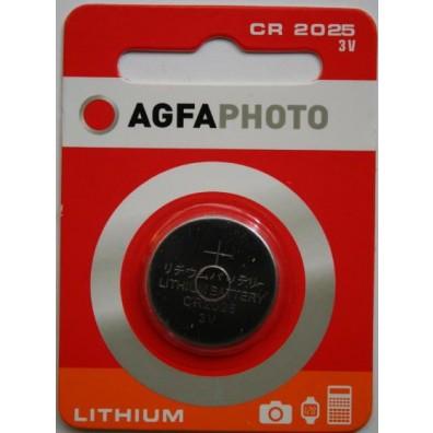 AGFA Photo CR2025 Lithium 3V Knopfzelle – 1er Blister