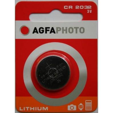 AGFA Photo CR2032 Lithium 3V Knopfzelle – 1er Blister