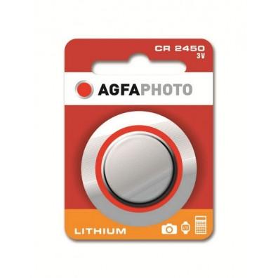 AGFA Photo CR2450 Lithium 3V Knopfzelle – 1er Blister