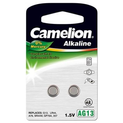 Camelion – AG13 LR44 LR1154 1,5V Alkaline Knopfzelle – 2er Blister