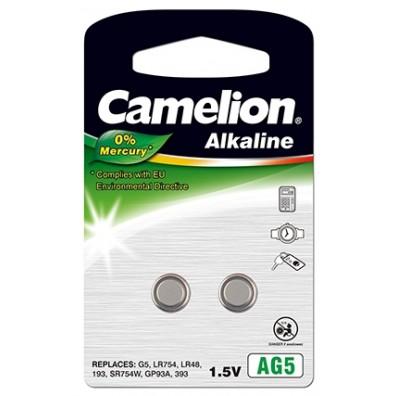 Camelion – AG5 LR48 LR754 1,5V Alkaline Knopfzelle – 2er Blister