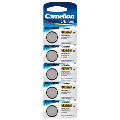 Camelion – CR2025 Lithium 3V Knopfzelle – 5er Blister