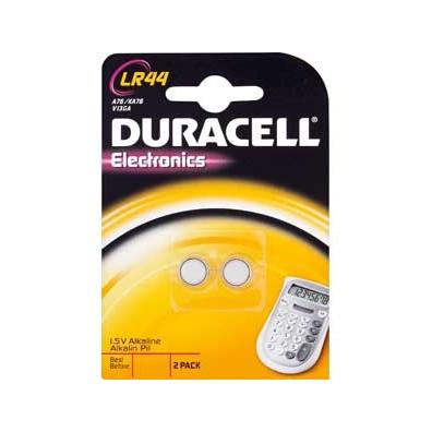 Duracell – LR44 13GA AG13 1,5V Alkaline Knopfzelle – 2er Blister