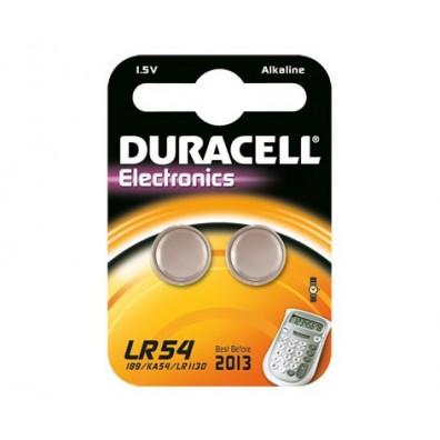 Duracell – LR54 10GA AG10 1,5V Alkaline Knopfzelle – 2er Blister