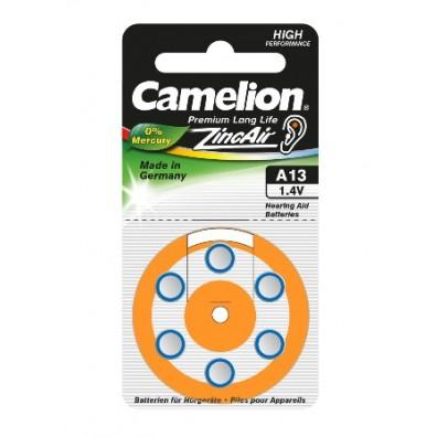 Camelion – Typ 13 Orange PR48 Hörgerätbatterien – 6er Blister