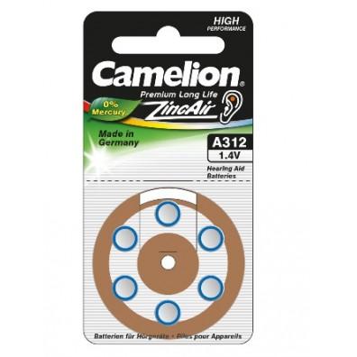 Camelion – Typ 312 Braun PR41 Hörgerätbatterien – 6er Blister