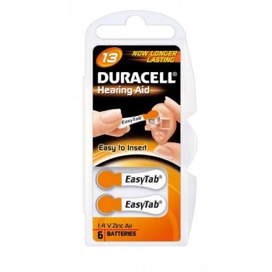 Duracell – Hearing Aid Typ 13 Orange PR48 Hörgerätbatterien – 6er Blister