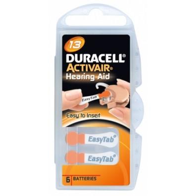 Duracell – ActivAir Typ 13 Orange PR48 Hörgerätbatterien – 6er Blister
