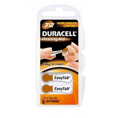 Duracell – Hearing Aid Typ 312 Braun PR41 Hörgerätbatterien – 6er Blister