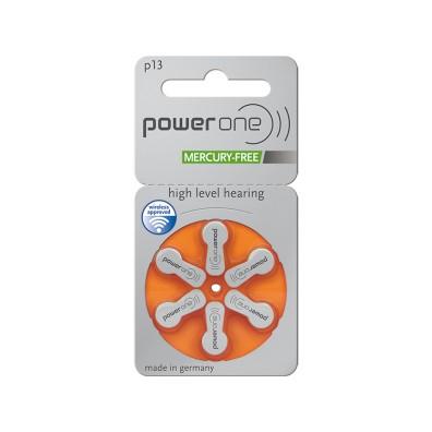 Varta PowerOne – Typ 13 Orange PR48 Hörgerätbatterien – 6er Blister