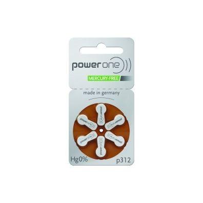 Varta PowerOne – Typ 312 Braun PR41 Hörgerätbatterien – 6er Blister