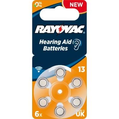 Rayovac – Acoustic Typ 13 Orange PR48 Hörgerätbatterien – 6er Blister