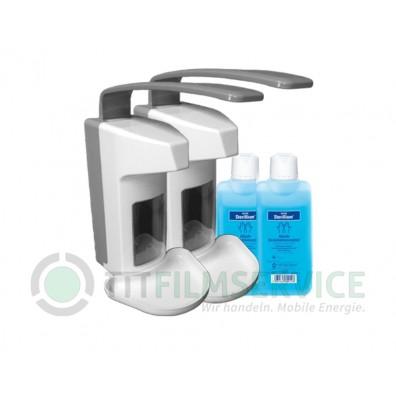 2x Wandspender Basic Line aus Kunststoff inkl. 500ml Sterillium