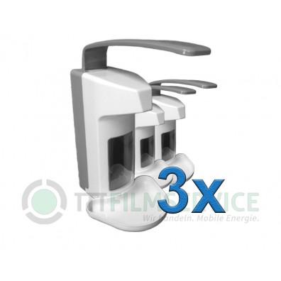 3x Wandspender Basic Line aus Kunststoff 500ml Nr. 3030160C