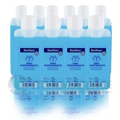 Bode Sterillium – 10 x 500 ml Hände- / Hautdesinfektionsmittel, Desinfektion für Hände