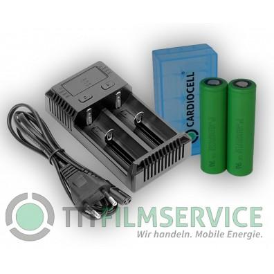 Nitecore – NEW i2 Intellicharger Ladegerät inkl. 2x Sony VTC6 + Cardiocell Box
