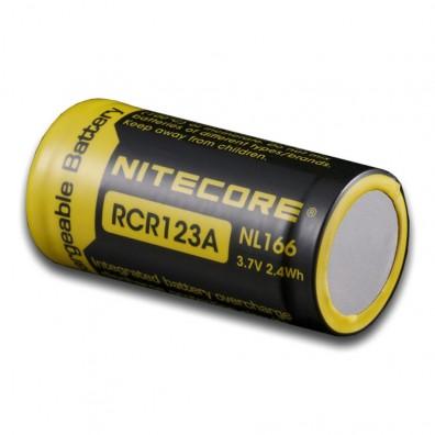 NiteCore- NL 166 16340 650mAh 3,7V 4A Li-Ion Akku - 1 Stück