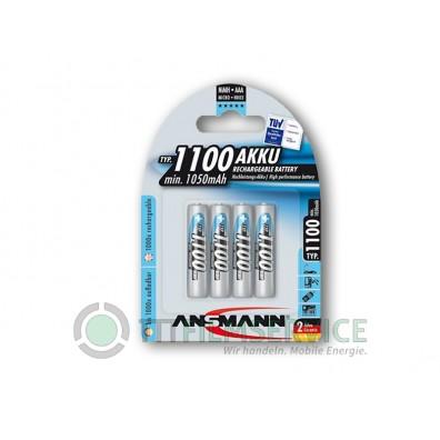 Ansmann – AAA HR03 1100mAh 1,2V NiMH Akku – 4er Blister